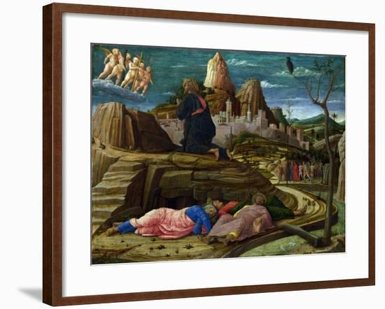 Agony in the Garden, c.1460-Andrea Mantegna-Framed Giclee Print