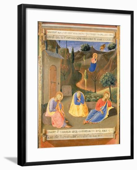 Agony in the Garden, Panel Three of the Silver Treasury of Santissima Annunziata, c.1450-53-Fra Angelico-Framed Giclee Print