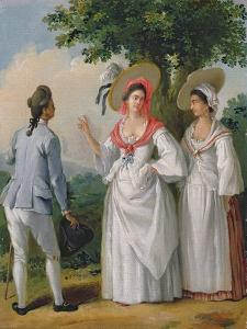 Free West Indian Creoles in Elegant Dress, c.1780 by Agostino Brunias