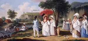 Mulatto Women on the Banks of the River Roseau, Dominica by Agostino Brunias