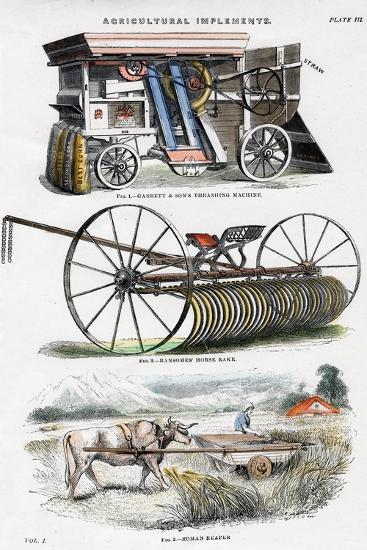 Agricultural Implements, 19th Century--Giclee Print