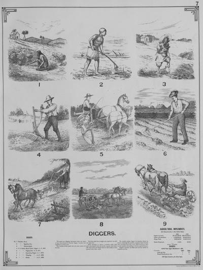 Agricultural Implements - Diggers, 1892--Giclee Print