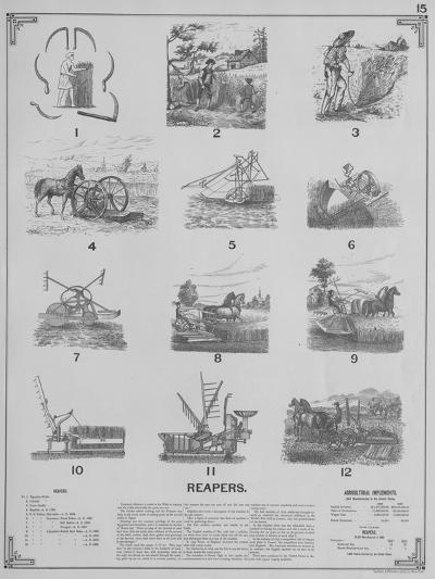 Agricultural Implements - Reapers, 1892--Giclee Print