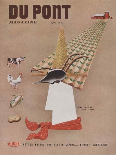 Agriculture and Du Pont, Front Cover of 'The Du Pont Magazine', April 1947--Giclee Print