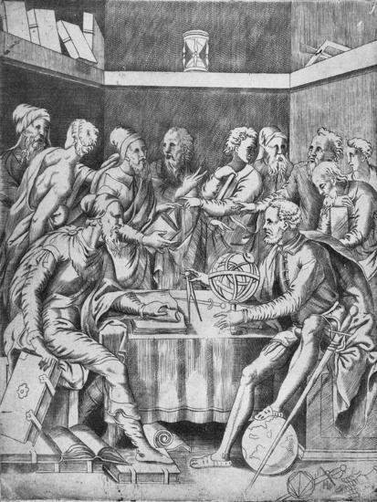'Agrippa Instructing His Pupils Mathematically', 1553, (1936)-Unknown-Giclee Print