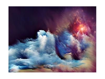 Abstract Design Made of Dreamy Forms and Colors on the Subject of Dream, Imagination, Fantasy and A by agsandrew