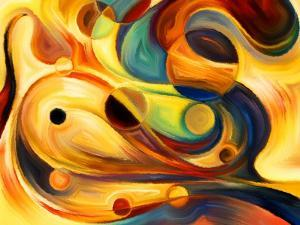 Forces of Nature Series. Abstract Design Made of Colorful Paint and Abstract Shapes on the Subject by agsandrew