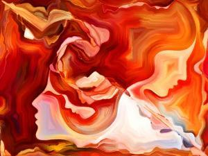 Forces of Nature Series. Artistic Abstraction Composed of Colorful Paint and Abstract Shapes on The by agsandrew