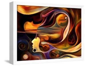 Inner Melody Series. Abstract Design Made of Colorful Human and Musical Shapes on the Subject of Sp by agsandrew