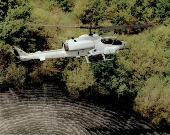 AH-1W Super Cobra (Over Water) Art Poster Print--Mini Poster