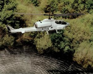 AH-1W Super Cobra (Over Water) Art Poster Print