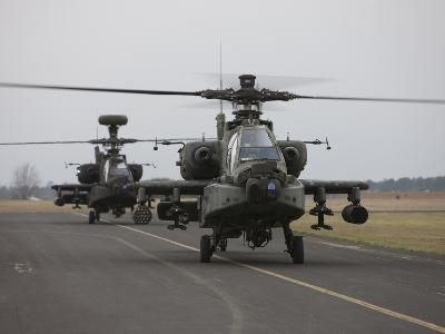 AH-64 Apache Helicopter On the Runway-Stocktrek Images-Photographic Print