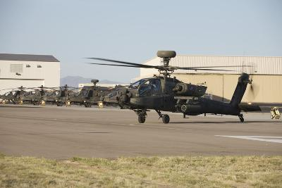Ah-64D Apache Longbow Taxiing Out to the Launch Pad-Stocktrek Images-Photographic Print