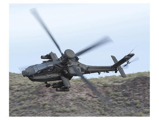 AH-64E Apache helicopter--Premium Giclee Print