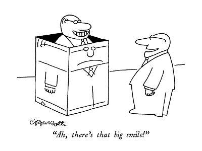 """Ah, there's that big smile!"" - New Yorker Cartoon-Charles Barsotti-Premium Giclee Print"