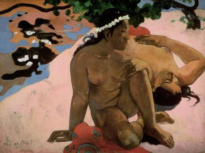 Aha Oe Feii? (Are You Jealous?), 1892-Paul Gauguin-Giclee Print