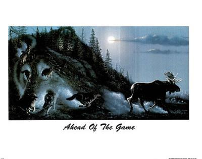Ahead Of The Game (Wolf Pack) Art Print Poster