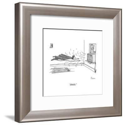 """Ahhhh."" - New Yorker Cartoon--Framed Premium Giclee Print"