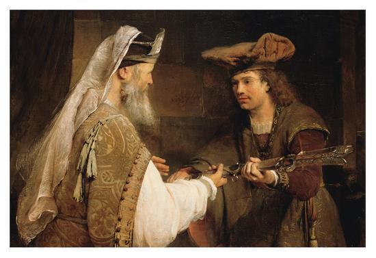 Ahimelech Giving the Sword of Goliath to David-Aert de Gelder-Art Print