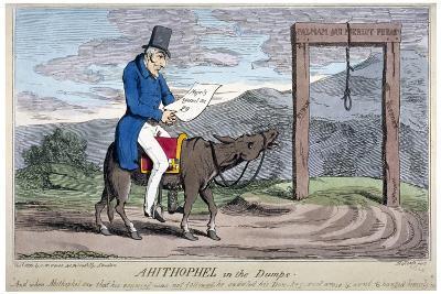 Ahithophel in the Dumps, 1830-Henry Heath-Giclee Print