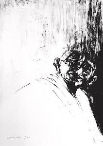 Portrait de Gandhi by Ahmed Shahabuddin