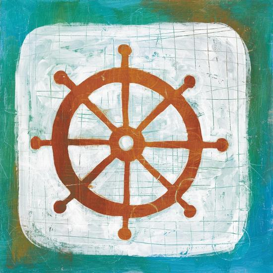 Ahoy IV Red Blue-Melissa Averinos-Art Print