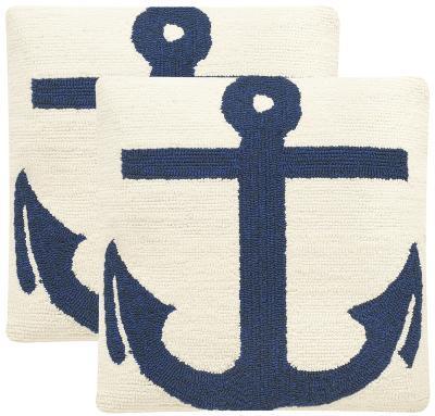 Ahoy Pillow Pair - Marine Blue--Home Accessories