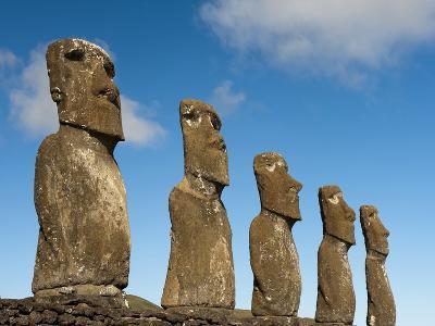 Ahu Akivi, Rapa Nui, Easter Island, Chile-Sergio Pitamitz-Photographic Print