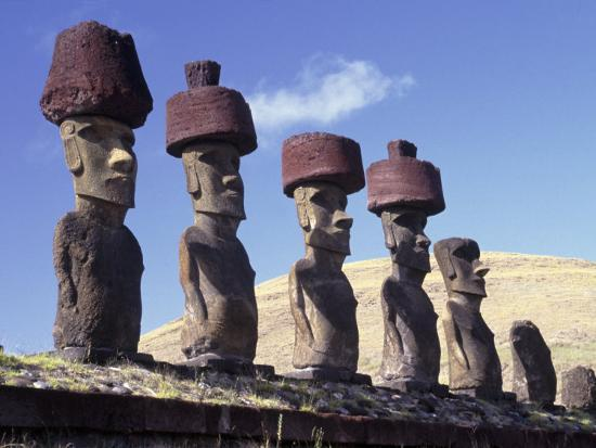 Ahu Tepito Kura, Anakena, Easter Island, Chile-Horst Von Irmer-Photographic Print