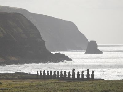 Ahu Tongariki, Unesco World Heritage Site, Easter Island (Rapa Nui), Chile, South America-Michael Snell-Photographic Print