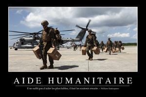 Aide Humanitaire: Citation Et Affiche D'Inspiration Et Motivation