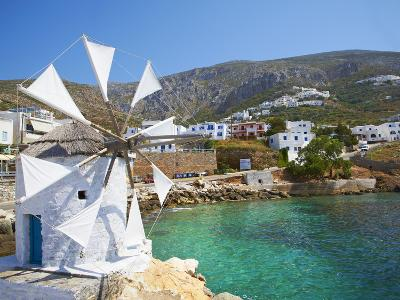 Aigiali Town and Port, Amorgos, Cyclades, Aegean, Greek Islands, Greece, Europe-Tuul-Photographic Print