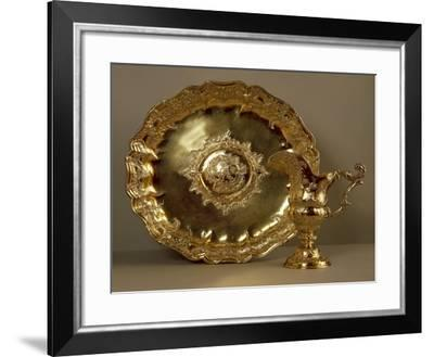 Aiguiere-Casque, Gilded Silver Helmet-Shaped Water Ewer and Basin--Framed Giclee Print