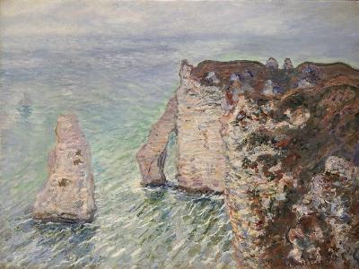 Aiguille and the Porte D'Aval, Etretat, 1886-Claude Monet-Giclee Print