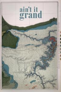 Ain't it Grand - 1882, Grand Canyon Map - The Kanab, Kaibab, Paria and Marble Canon Platforms