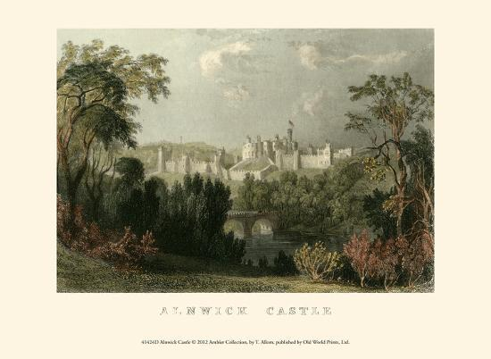 Ainwick Castle-T^ Allom-Art Print