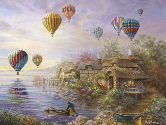 Air Balloons over Cottageville-Nicky Boehme-Giclee Print
