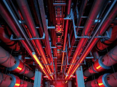 Air Conditioning Pipes-Tek Image-Photographic Print