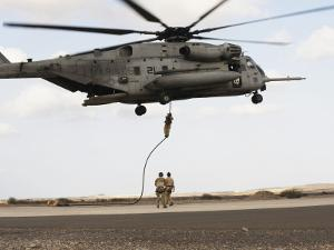 Air Force Pararescuemen Conduct a Combat Insertion and Extraction Exercise in Djibouti, Africa