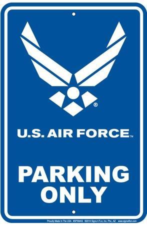 Air Force Parking--Tin Sign