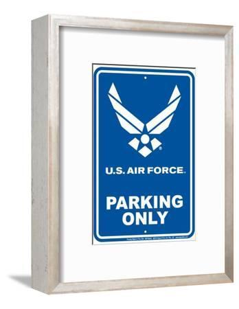 Air Force Parking--Framed Tin Sign