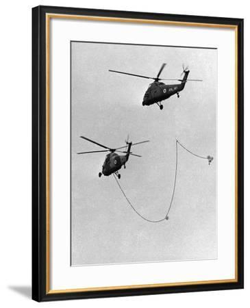 Air Fueling, Wessex Helicopter Being Refuelled in Flight, Farnborough, September 1964--Framed Photographic Print