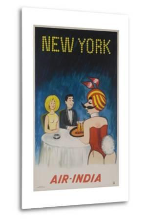 Air India Travel Poster, New York Playboy Bunny