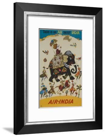 Air India Travel Poster, There Is an Air About India--Framed Giclee Print
