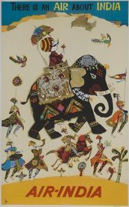 Air India Travel Poster, There Is an Air About India