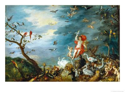 Air: One of the Four Paintings Showing the Four Elements-Jan Brueghel the Elder-Giclee Print