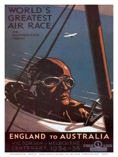 Air Race, England to Australia c.1934-Percy Trompf-Art Print