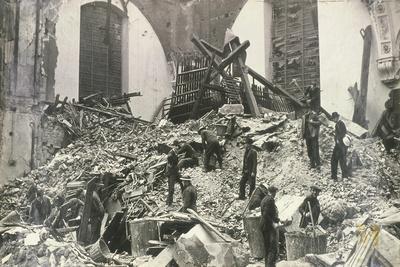 Air Raid Damage at Church of St Mildred, Bread Street, City of London, C1941--Photographic Print