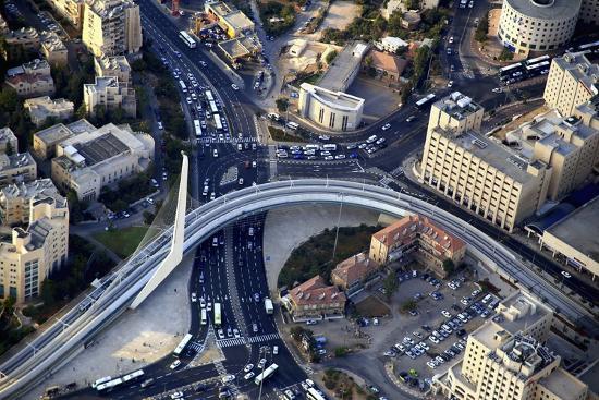 Air View of the Calatrava Bridge.-Stefano Amantini-Photographic Print