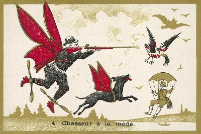 Airborne Hunter--Giclee Print